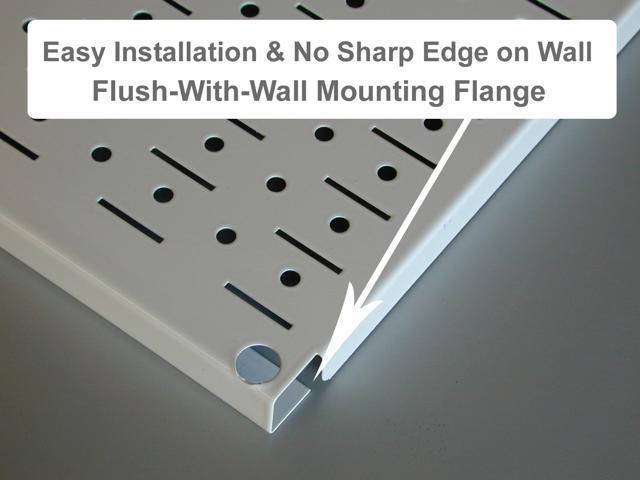 Wall Control 4ft Metal Pegboard Standard Tool Storage Kit - Green Toolboard & Black Accessories