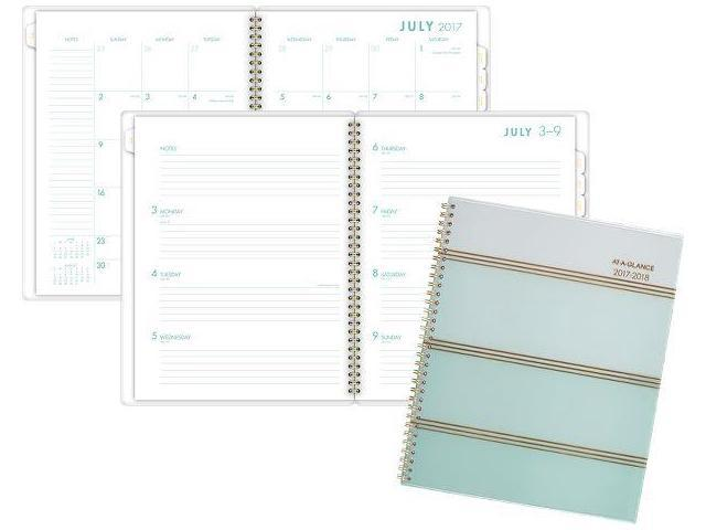 at a glance ombre academic weekly monthly planner academic