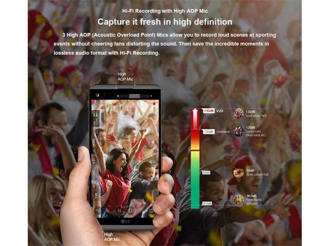 Refurbished: LG V20 4GB RAM 64GB ROM Android Quad Core 5 7'' 16MP