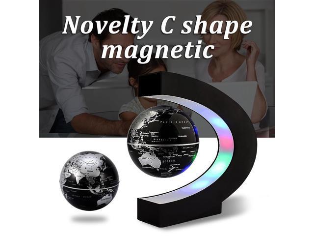 C shape levitation anti gravity globe magnetic floating world map c shape levitation anti gravity globe magnetic floating world map with led light gumiabroncs Images