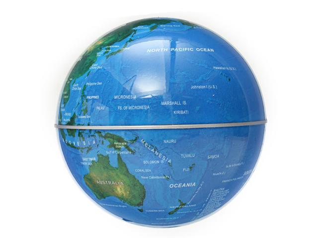 round shape magnetic levitation floating globe led light world map