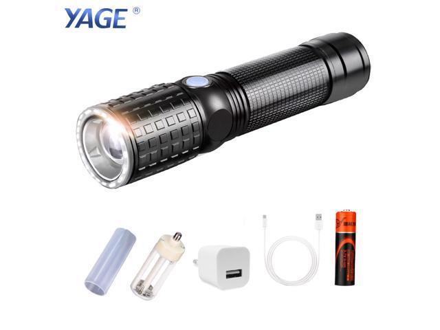 YAGE 341C Flashlight T6 2000LM Aluminum Zoom CREE LED Flashlight 18650 Lamp 6-Modes USB Torch Light for AAA 1*18650 Battery