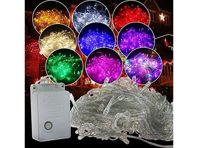 Green - 100 LED Fairy String Lights Lamp for Christmas Tree Holiday Wedding Party Xmas Decoration Halloween Showcase Displays Restaurant or Bar and Home Garden