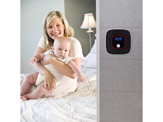 Carbon Monoxide Detector, Awakelion Battery-Operated Combo Co Detector/Alarm with Voice Warning - OEM