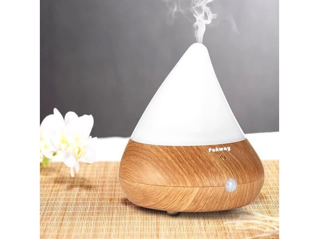 Essential Oil Diffuser, Awakelion Ultrasonic Cool Mist Air Humidifier Aroma Diffuser ,Infrared Induction(turning on/off automatic)+Touch Sensor Control (Wood Grain)