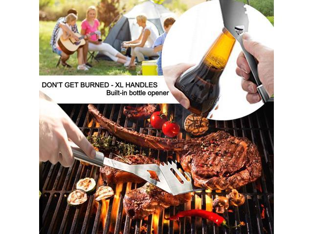 BBQ Grill Tools Set 12-Piece XL Size Stainless-Steel BBQ Tool with Aluminum Case,Extra Thick & Rust Proof Design,Complete Outdoor Grilling Kit