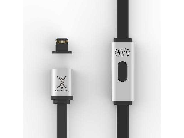 Lexuma XMAG Magnetic Lightning Charging High Speed Data Transfer Cable for Apple Devices, iPhone, iPad, iPod, iPod Touch