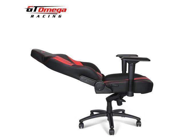 GT Omega MASTER XL Racing Gaming Office Chair Black and Red Leather