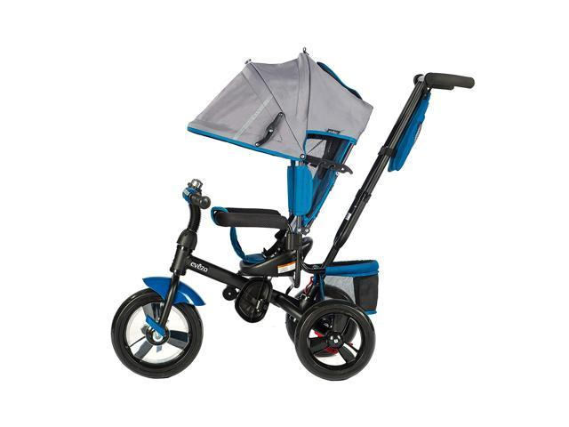 Evezo 4-in-1 Stroller & Tricycle w/ full canopy, 307-30 Kailin, Blue