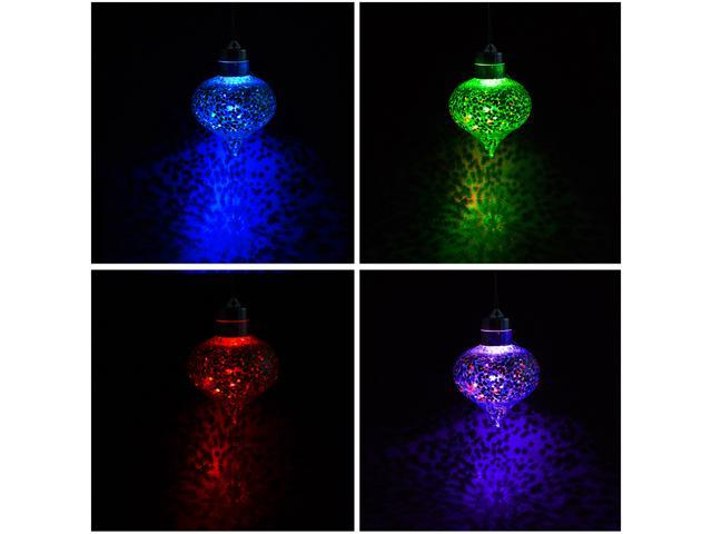 Comix Christmas Tree LED Bulb Clear Ornaments Filled with Colorful Shimmering Glitter - 6 Pack
