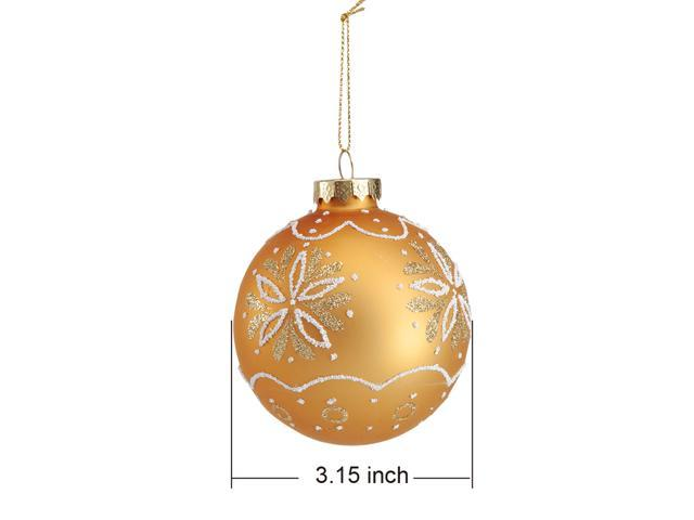 Comix Christmas Tree Ornament Decorated with Hand Drawn Flowers in Glitter