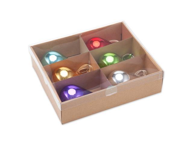 Comix Christmas Tree Glass Teardrop Ornaments