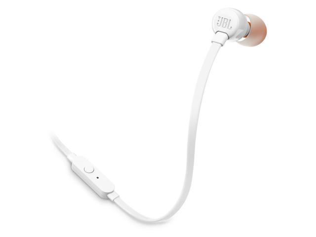 JBL T110 Pure Bass In-Ear Headphones - White
