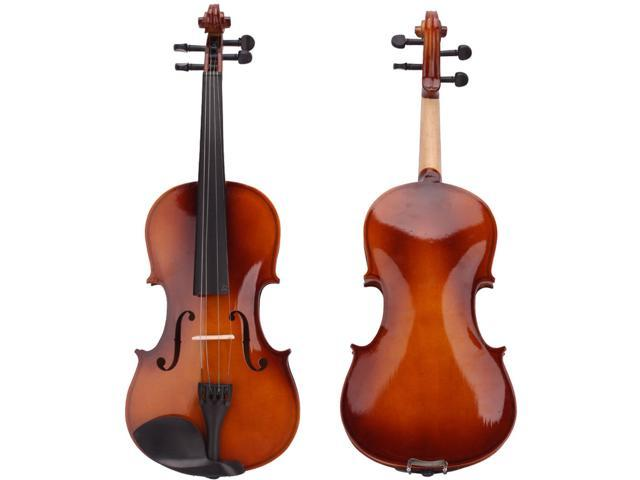 New 4/4 Full Size Acoustic Violin with Case Bow Rosin Natural Color