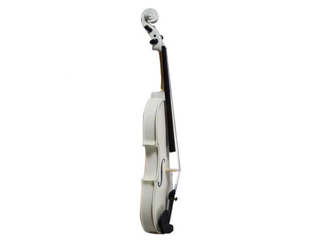 New White 3/4 Full Size Kid Basswood Acoustic Violin Fiddle with Case Bow Rosin