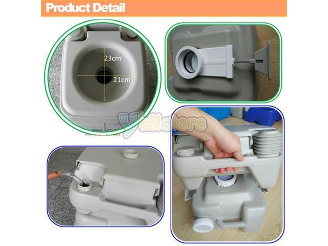 Portable Boat Toilet : 20l portable camping toilet flush porta travel outdoor vehicle