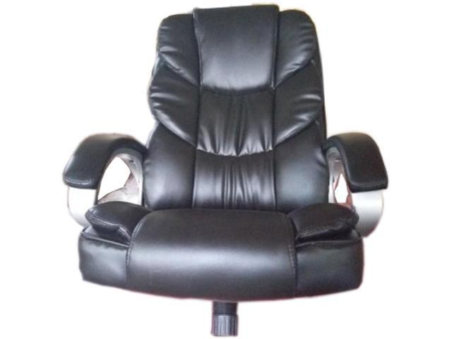 High Back PU Leather Executive Office Desk Task Computer Chair With Metal Base