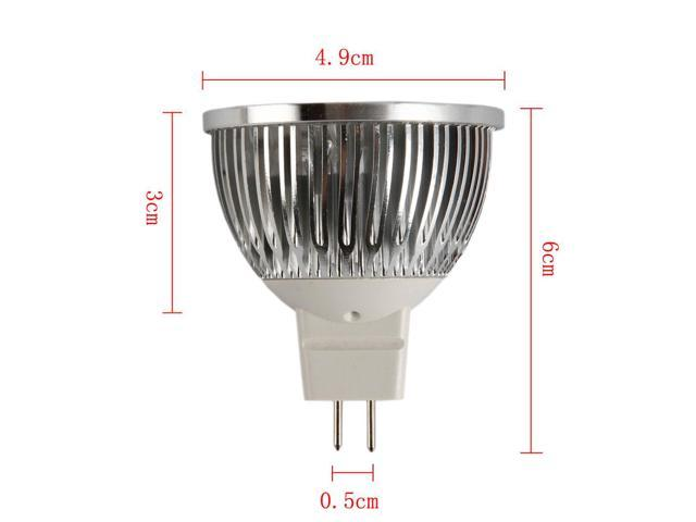 10Pcs New 4W DC12V MR16/GU5.3-LED Spot Light Bulb Lamp Cool White Spotlight