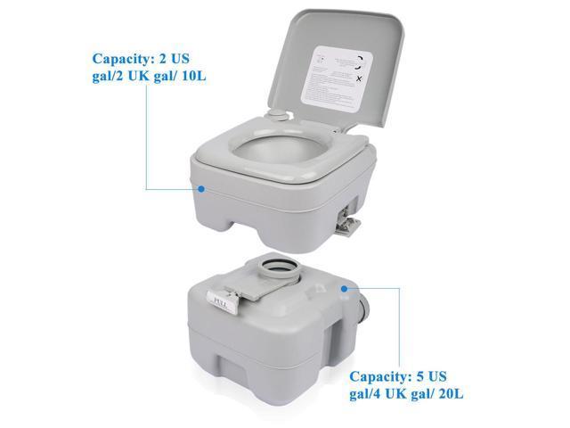 Portable Camping Toilet : L portable camping toilet flush porta travel outdoor vehicle