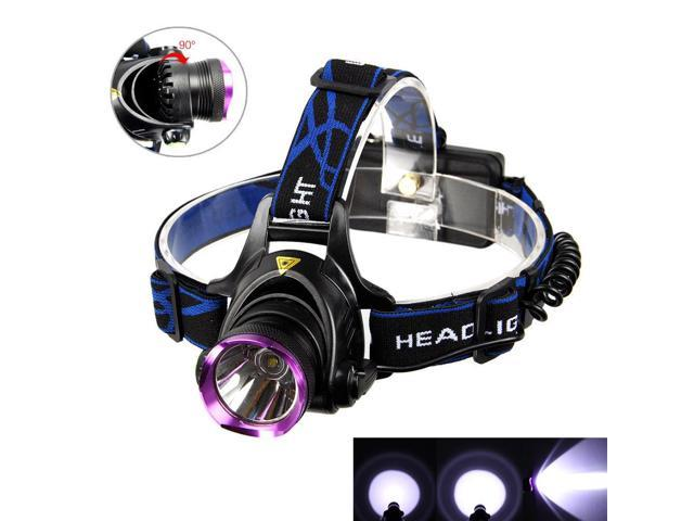 2000LM T6 LED Rechargeable Headlight Head Lamp + 2Pcs 18650 + Charger US