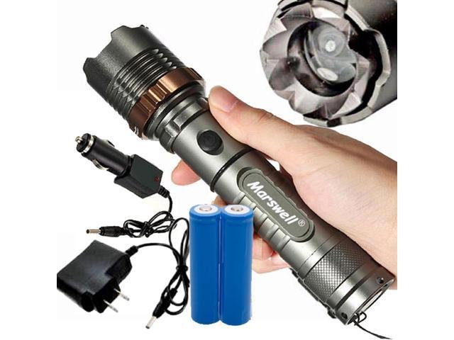 Bright 5000Lumen LED Zoom Flashlight Torch Rechargeable 18650 Battery Charger