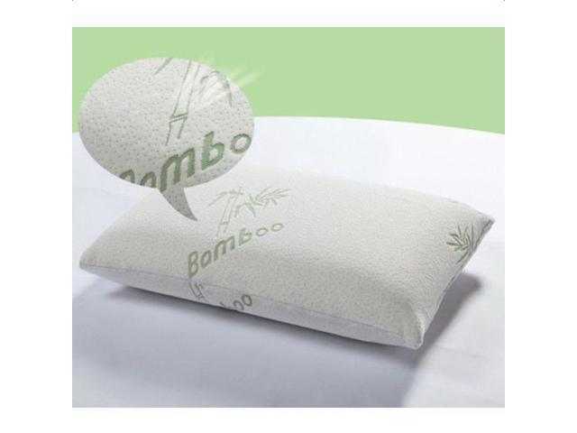 Hotel Bamboo Pillow Memory Foam Hypoallergenic Cool Comfort w/Travel Bag Queen
