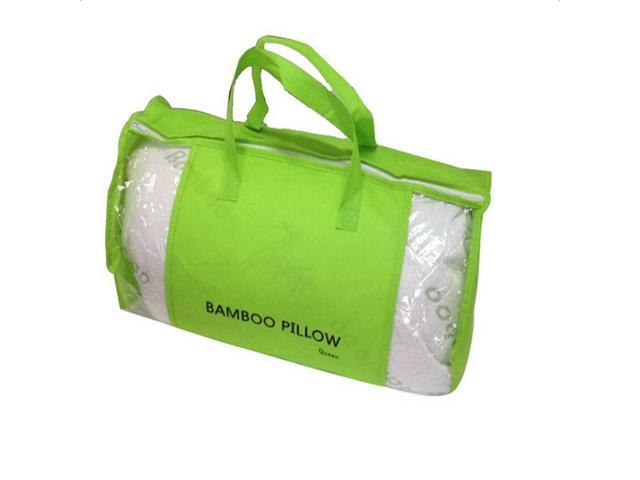 Hotel Bamboo Pillow Memory Foam Hypoallergenic Cool Cozy w/Travel Bag Queen New