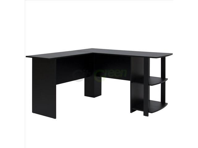 Best Choice Products L-Shaped Corner Computer Home Office Desk Furniture- Black