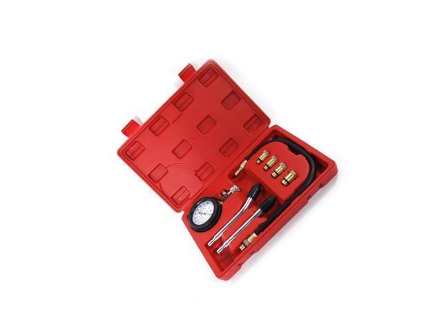 Spark Plug Cylinder Compression Tester Test Kit Professional Gas Engine+Tool Box