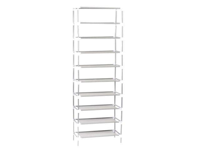 10 Tier Shoe Rack Tower Cabinet Storage Organizer Black Home Holder Shelf Wall