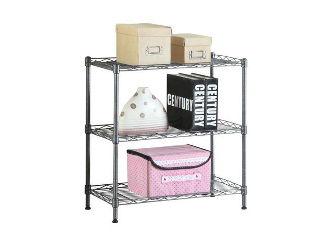 Kitchen Baker Rack Utility Microwave Oven Stand Storage Workstation Shelf Black