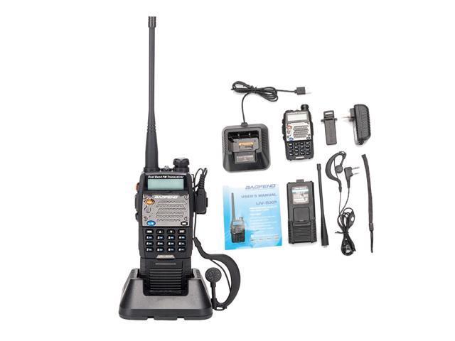 Baofeng UV-5XP 8W 400-520MHz/136-174MHz Walkie Talkie 3000mAh + Headset