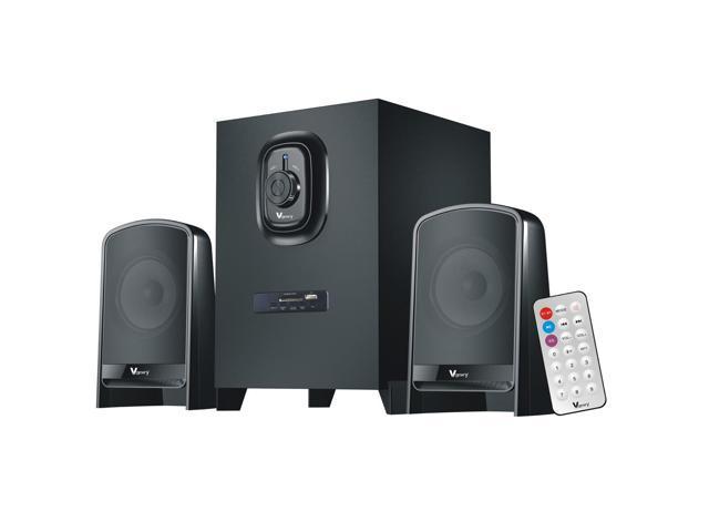 Vamery 2.1ch Bluetooth Speaker System USB SD FM Radio Remote Control