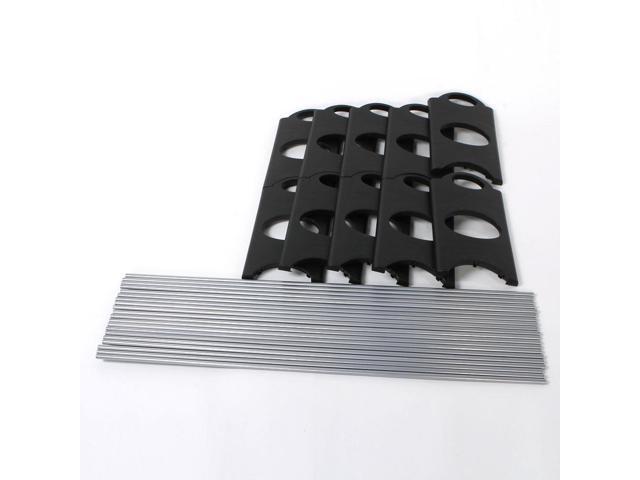 50 Pair 10 Tier Shoe Tower Rack Organizer Space Saving Shoe Rack Stainless Steel