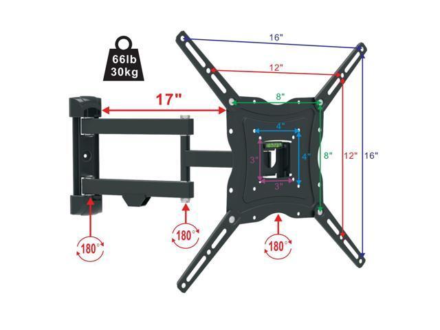 Full Motion E04SBAP Tilt 15??VESA 400*400 TV Wall Mount Bracket 32 37 42 50 Inch