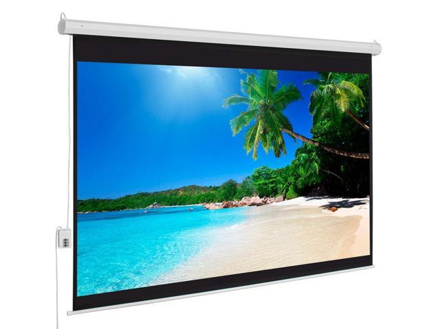 "Hot Sale 100"" 4:3 Material Electric Motorized Projector Screen +Remote Home"