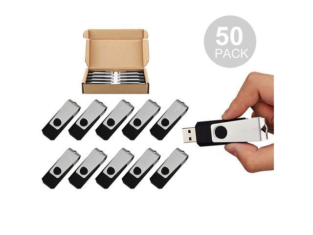 50PCS 4GB Bulk USB 2.0 Flash Drive Swivel Memory Stick Thumb Drives Pen Drive (4G, 50 Pack, Black)