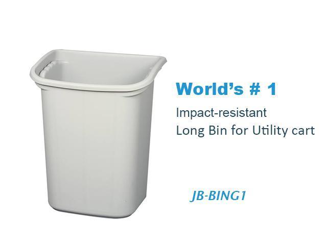 "JaboEquip High impact plastic Long bin for Utility cart 14.57 x 10.24 x H17.76"""