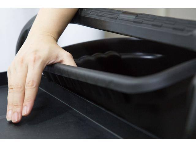 "JaboEquip impact-resistant plastic Long bins Wastebasket for Utility cart, 14.57 x 10.24 x H17.76""- Black"