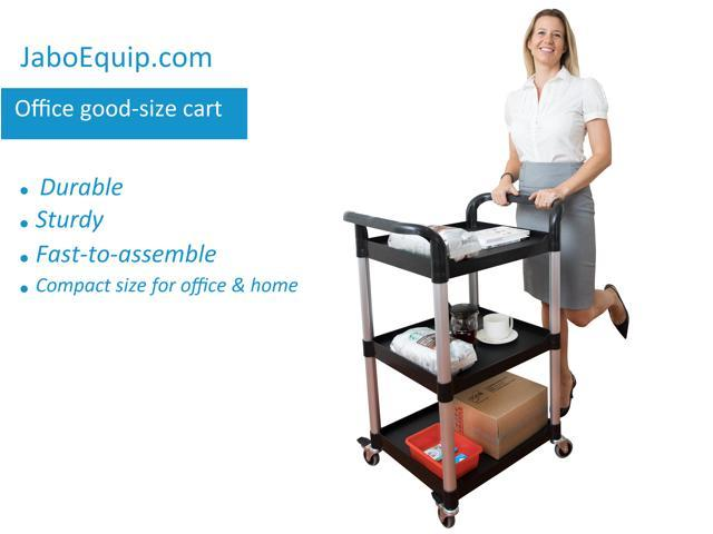 JaboEquip, 3 tier Utility cart Serving cart Tools cart 265 lbs load capacity Perfect size for home, tools, full purpose, Overall size: L28 x W 19.7""