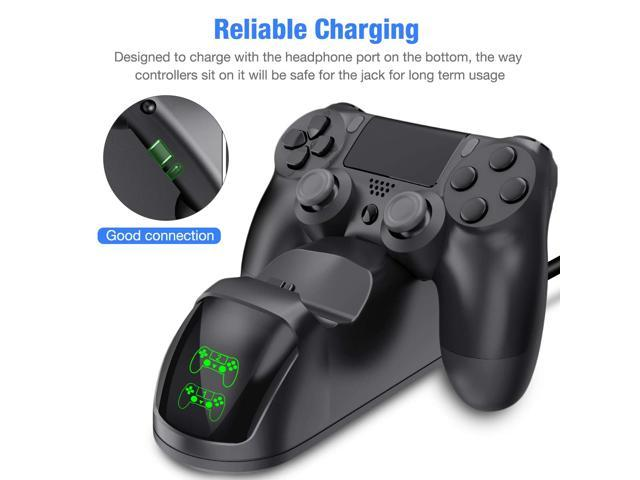 PS4 Controller Charger, DualShock 4 Controller USB Charging Station Dock, PlayStation 4 Charging Station for Sony Playstation4 / PS4 / PS4 Slim / PS4 Pro Controller