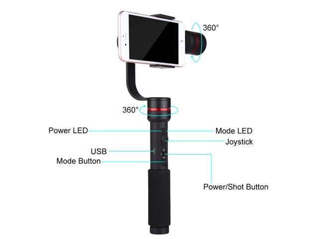 Puluz G1 3-Axis Handheld Gimbal Stabilizer Wireless Control Vertical
