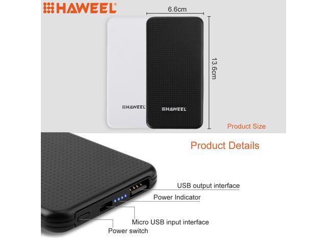 HAWEEL Ultrathin 4000mAh External Battery Power Bank for iPhone x,  iPhone 8, Samsung, LG, HTC, Huawei, Xiaomi etc