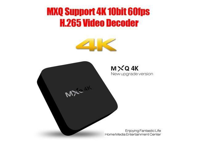 MXQ 4K Full HD Media Player RK3229 Quad Core KODI Android 4.4 TV Box with Remote Control, RAM: 1GB, ROM: 8GB, Support HDMI, WiFi, Miracast, DLNA(Black)
