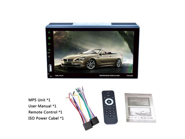 7701 7 inch 1080P HD Touchscreen Double Din Stereo Car Receiver
