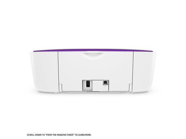 Refurbished: HP DeskJet 3755 All-in-One Printer in White and Purple
