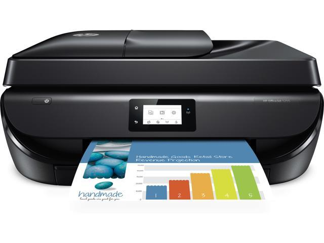 Refurbished: HP OfficeJet 5255 All-in-One Printer With Mobile Printing, Instant Ink Ready
