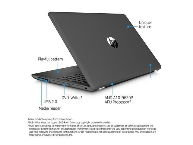 "Refurbished: HP Notebook - 15-bw053od- 15.6"" 1366X768 Display, AMD Quad-Core A10-..., 8 GB DDR4 RAM, 1TB SATA HDD, Windows 10"