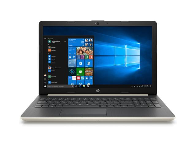 Refurbished: HP Notebook 4WZ46UA#ABA 15-db0003ds Gold, Touch Screen, Bluetooth, AMD A9 Series@3.1 GHz, 8 GB DDR4 RAM, 1TB, Windows 10