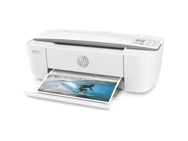 Refurbished: HP DeskJet 3755 All-in-One Printer in White and Stone Gray